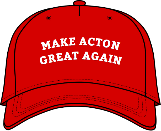 UPdate: Wall to be built between Georgetown and Acton to Make Acton Great Again